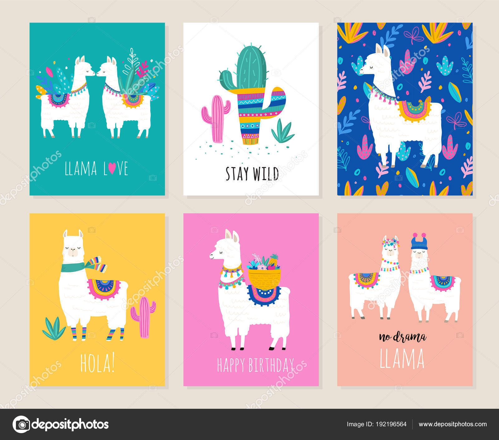 Llama and alpaca collection of cute hand drawn illustrations cards llama and alpaca collection of cute hand drawn illustrations cards and design for nursery design poster birthday greeting card vector by marish m4hsunfo Images