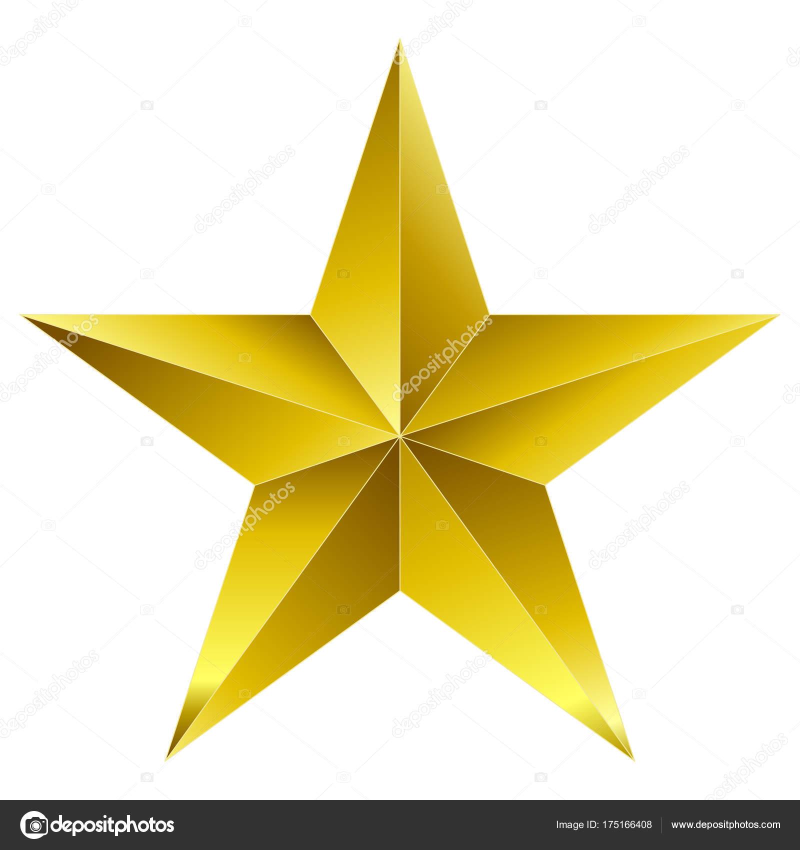 Stern Weihnachten.Weihnachten Sterne Golden 5 Punkt Stern Isoliert Auf Weiss