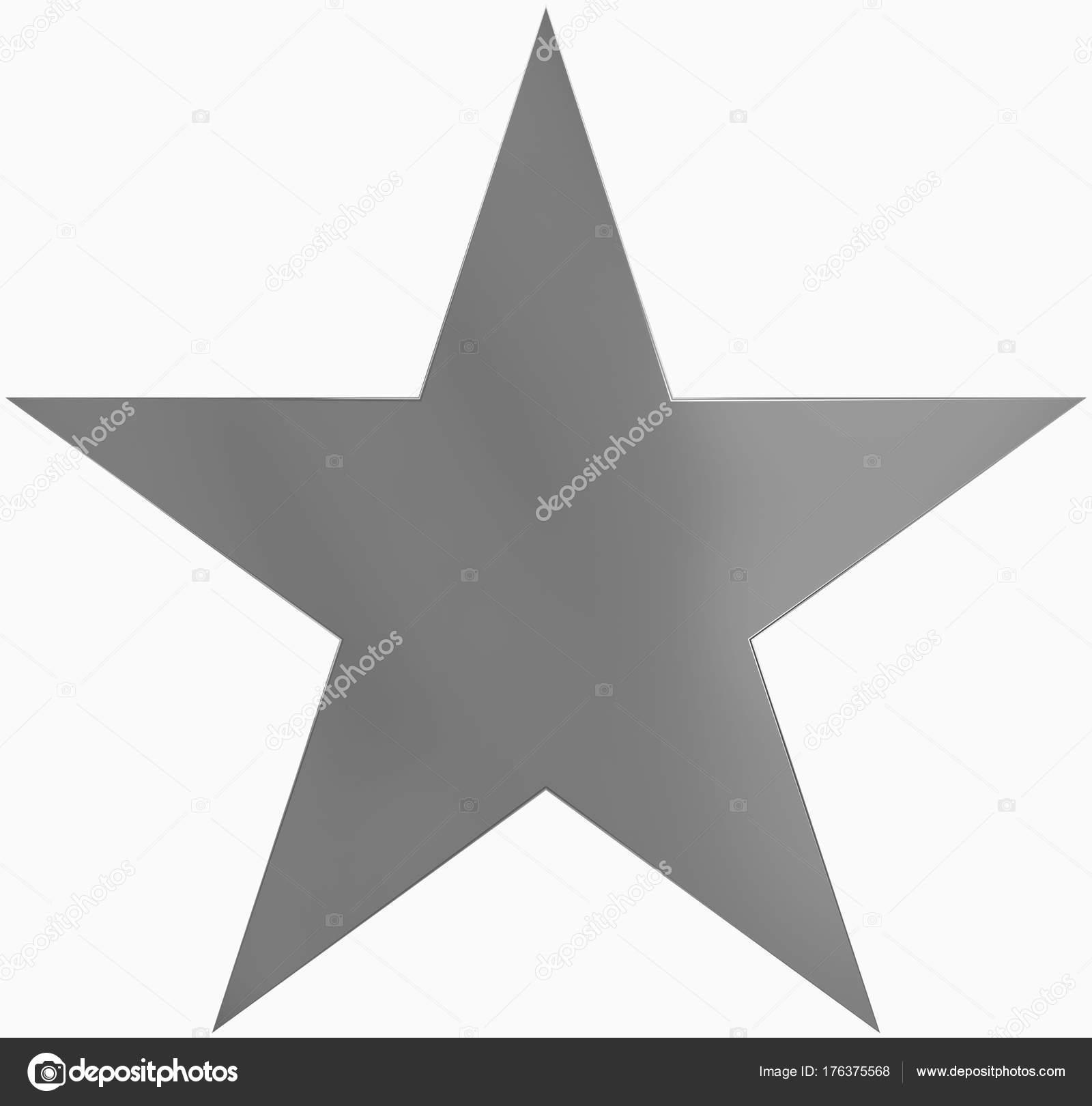 Stella Di Natale A 5 Punte.Metallo Stella Di Natale Semplice Punto 5 Star Isolato Su Bianco