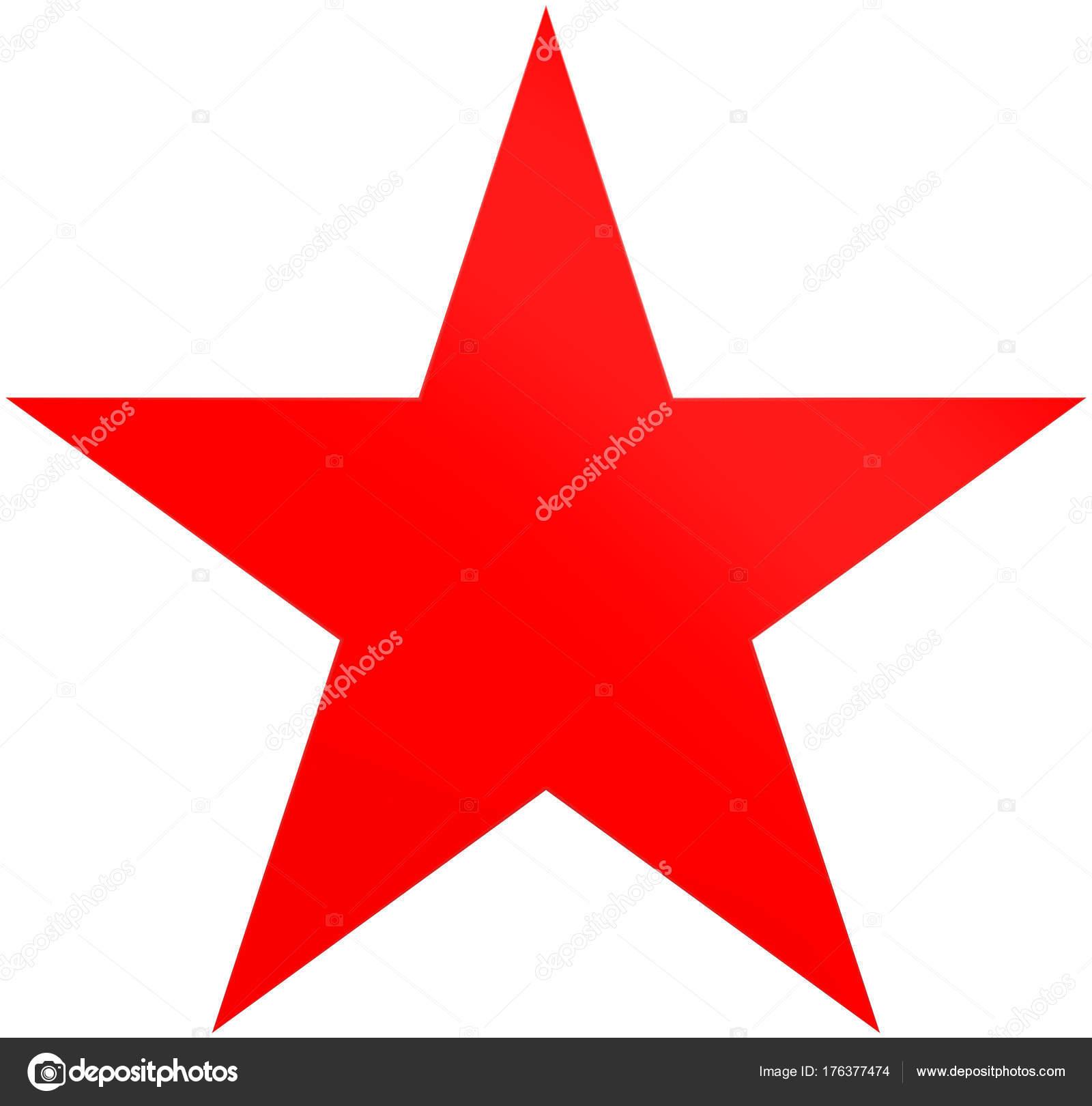 Stern Weihnachten.Weihnachten Sterne Rot Einfache 5 Punkt Stern Isoliert Auf Weiß