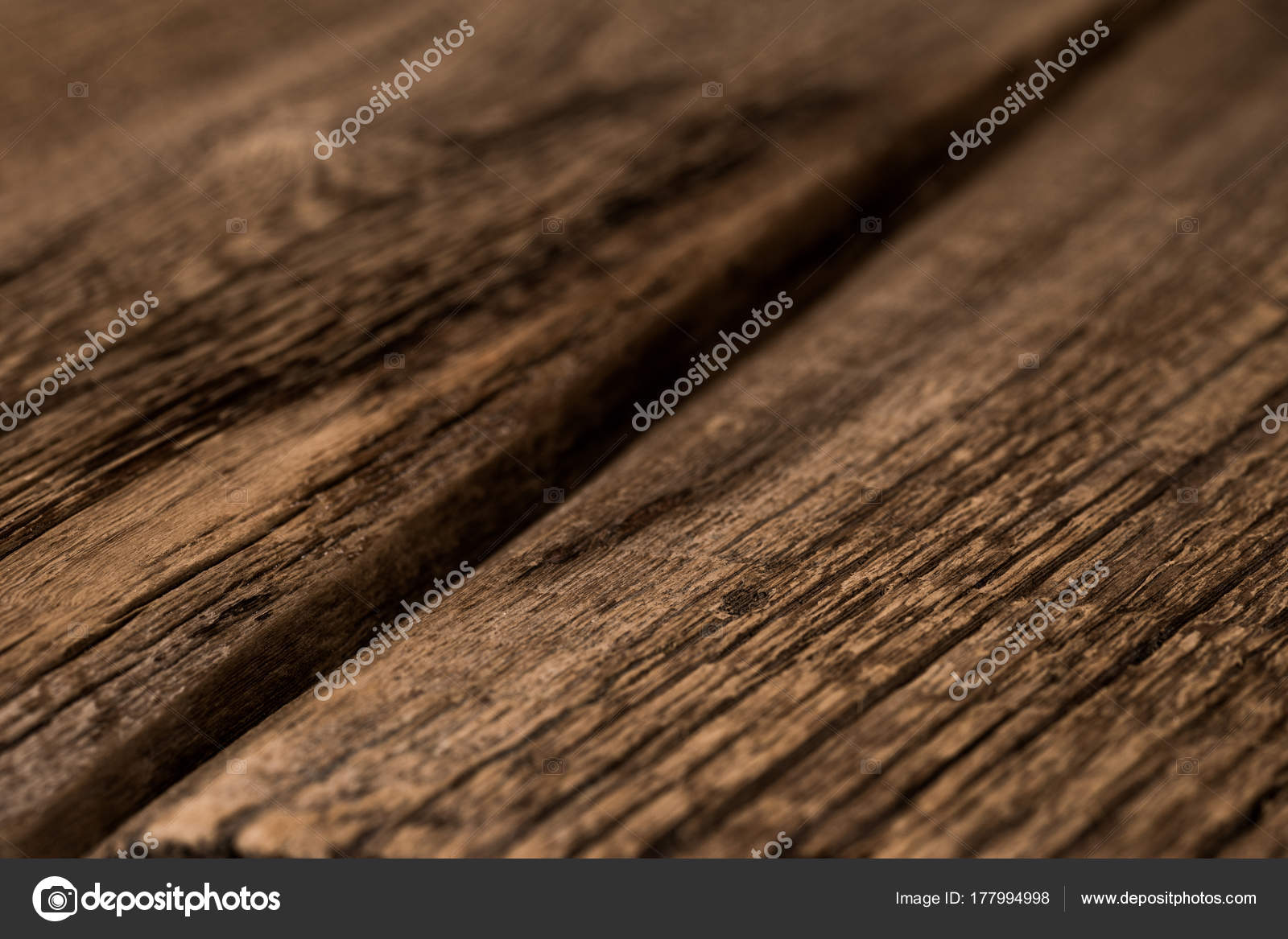 Wood Texture, Wooden Plank Grain Background, Desk In Perspective U2014 Stock  Photo