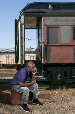 African American Black Man traveler