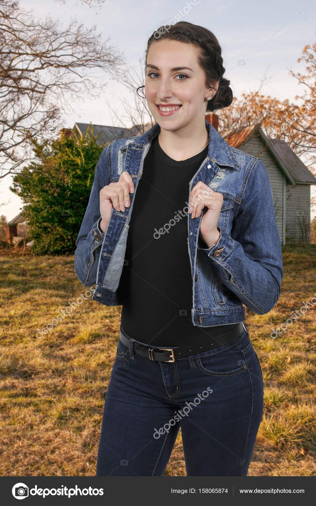 Vaqueros Vaquera Chaqueta Con Pantalones Vestida Y Mujer WCtBqZ0wW