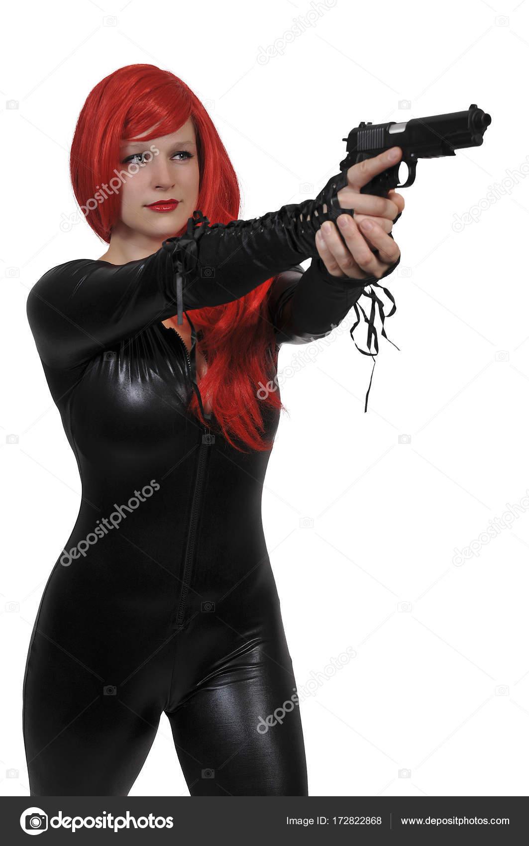 b3badddbbacb mulher com pistola — Stock Photo © robeo123 #172822868