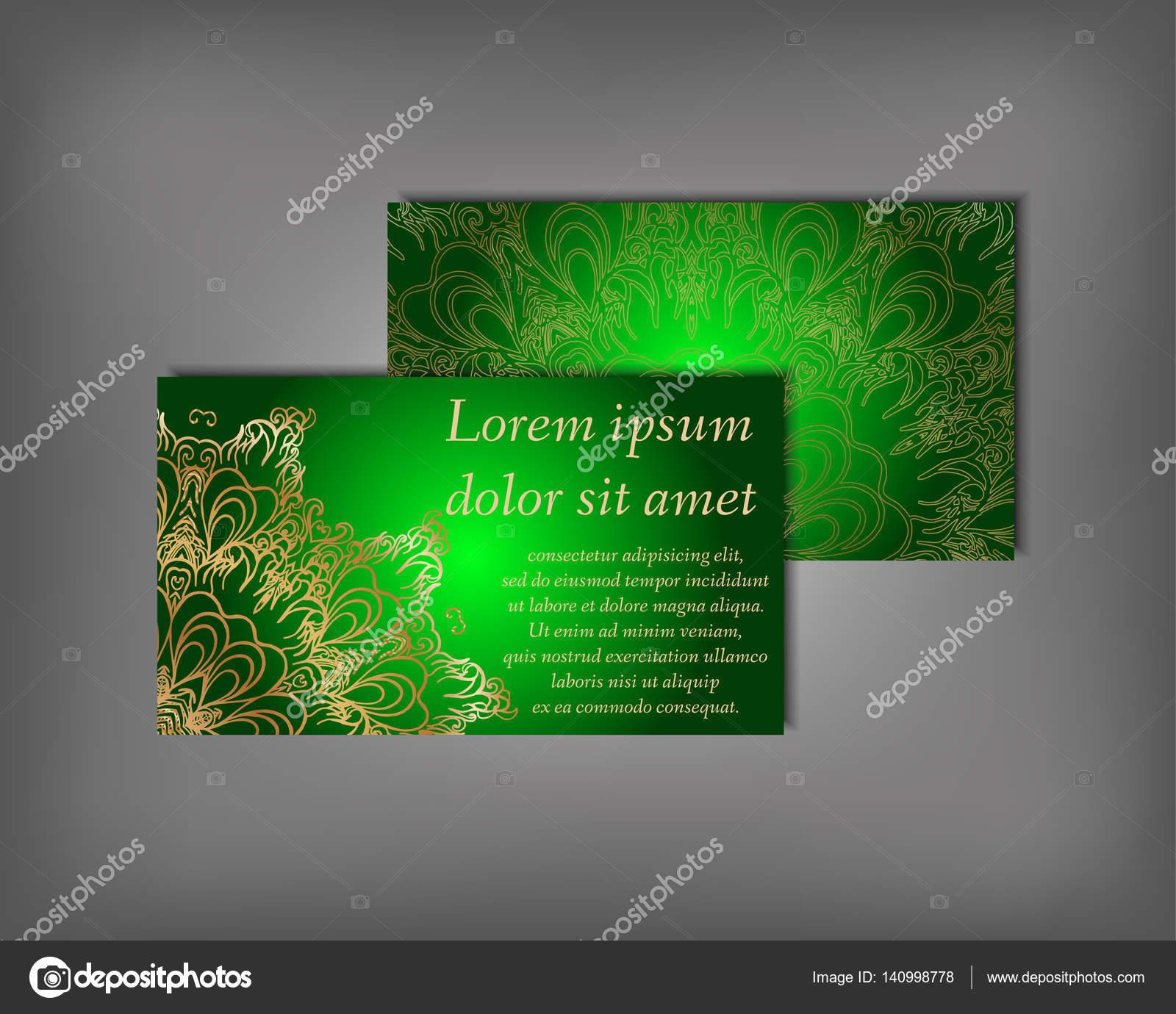 Conjunto de tarjetas, plantilla de flyer — Archivo Imágenes ...