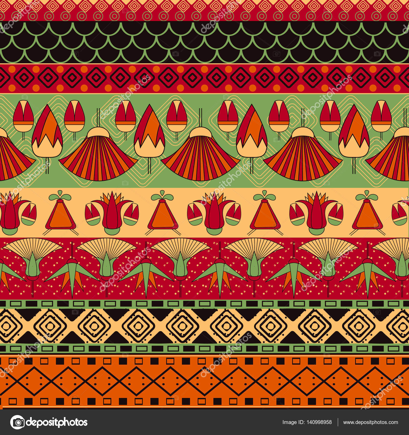 Ancient Egyptian Ornament Stock Vector 169 Mary1507 140998958