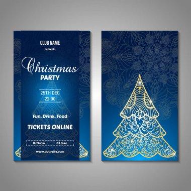 Christmas flyer, sale, card template.