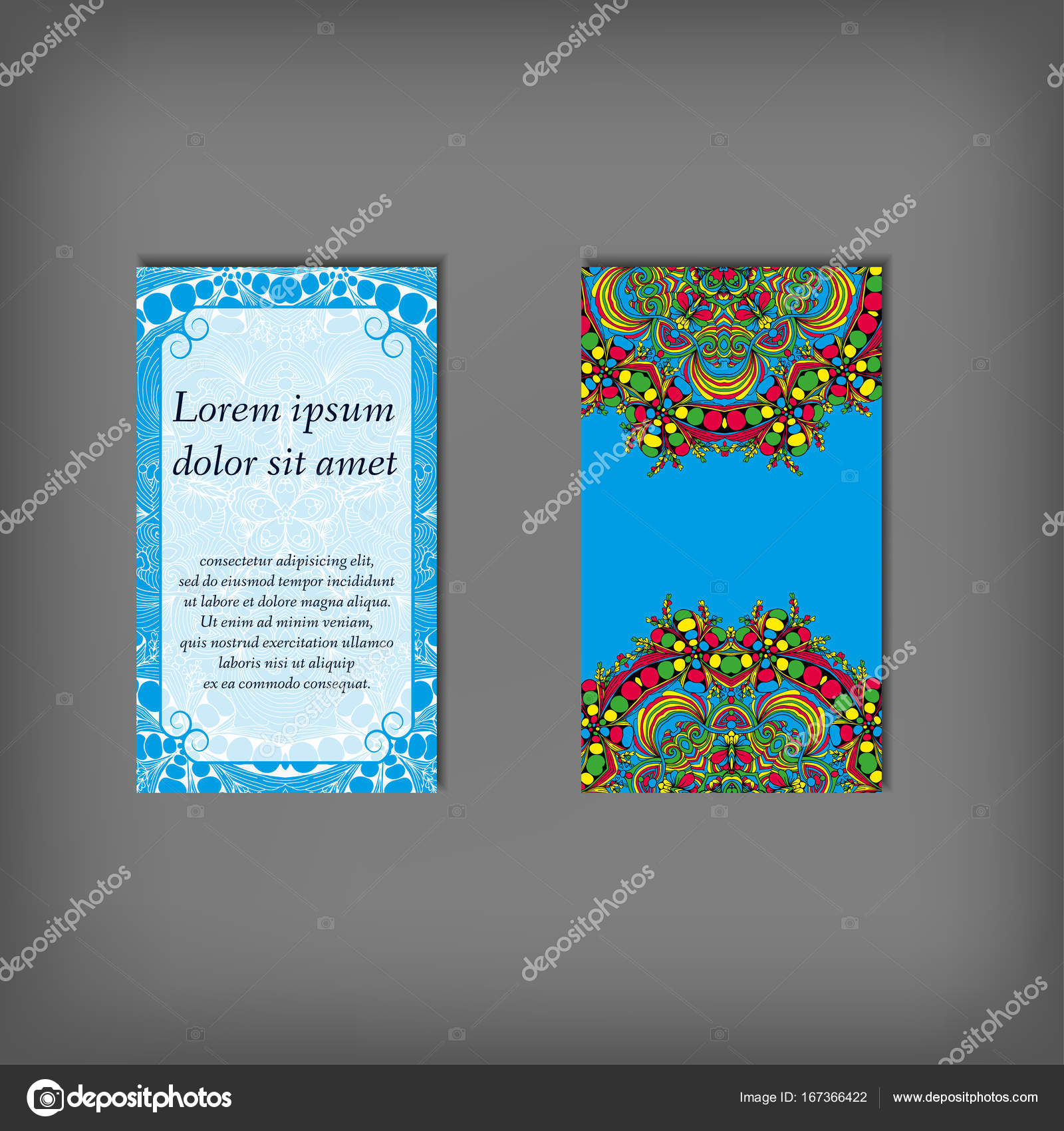 Blue Elegant Business Cards Stock Vector