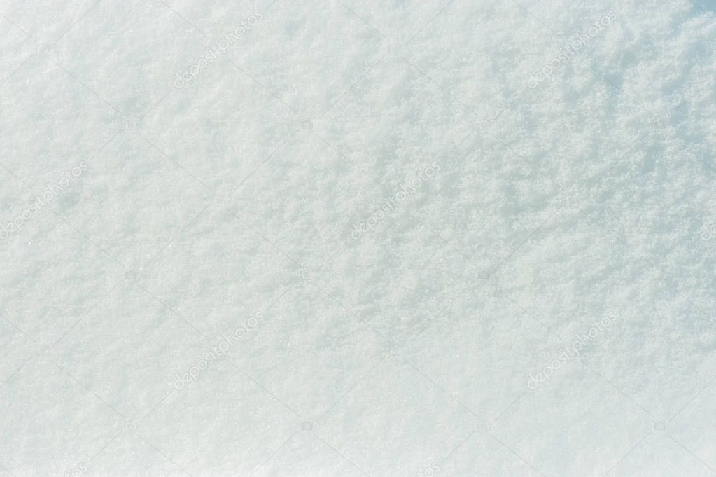 Snow surface background close up