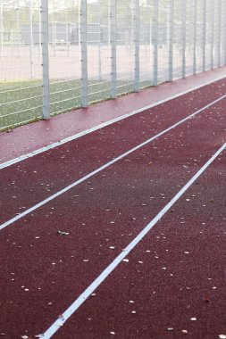 Running track during the day