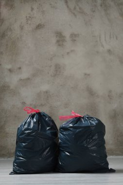Trash bags on the floor