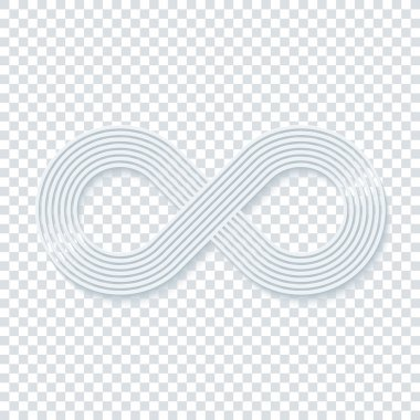 Infinity symbol on transparent background.