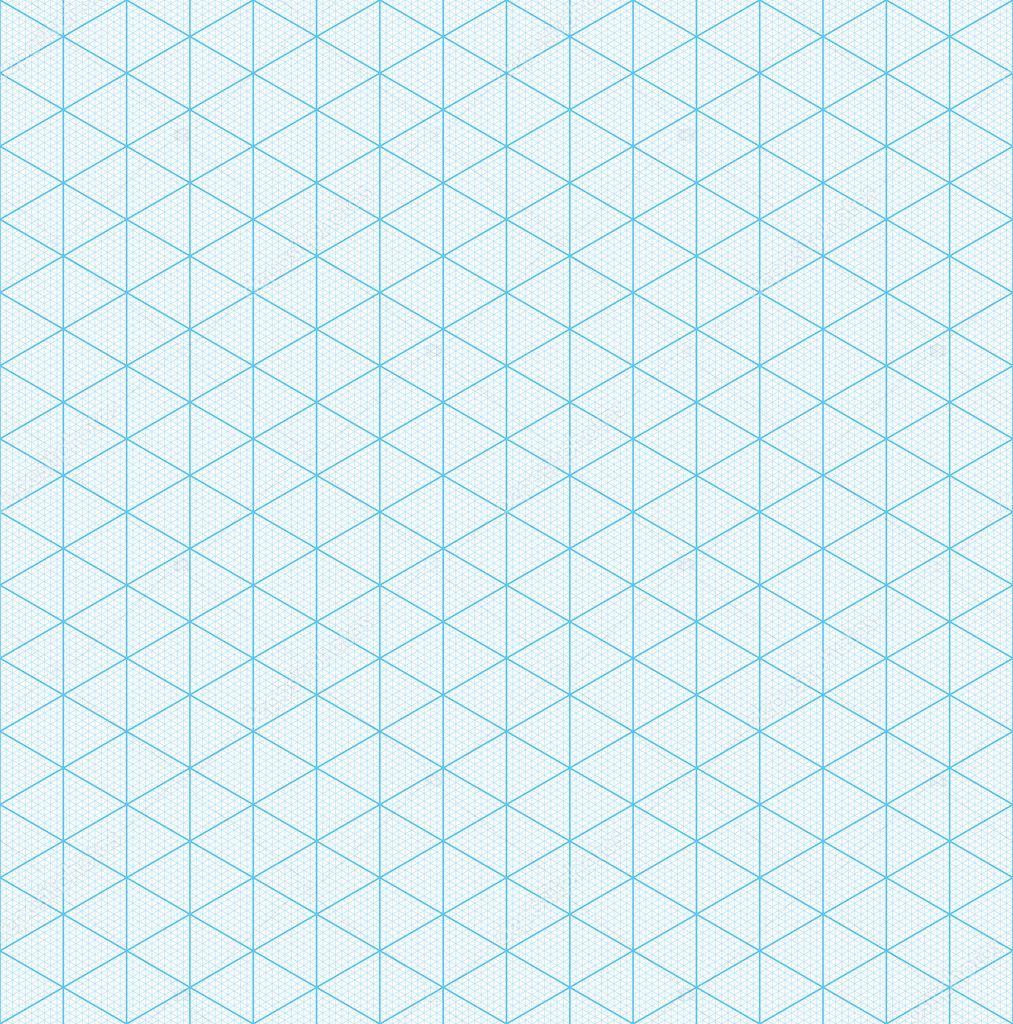 Isometric Graph Paper For 3D Design U2014 Stock Vector #127157230