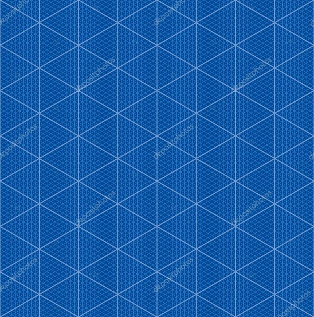 isometric graph paper for 3d blueprint design stock
