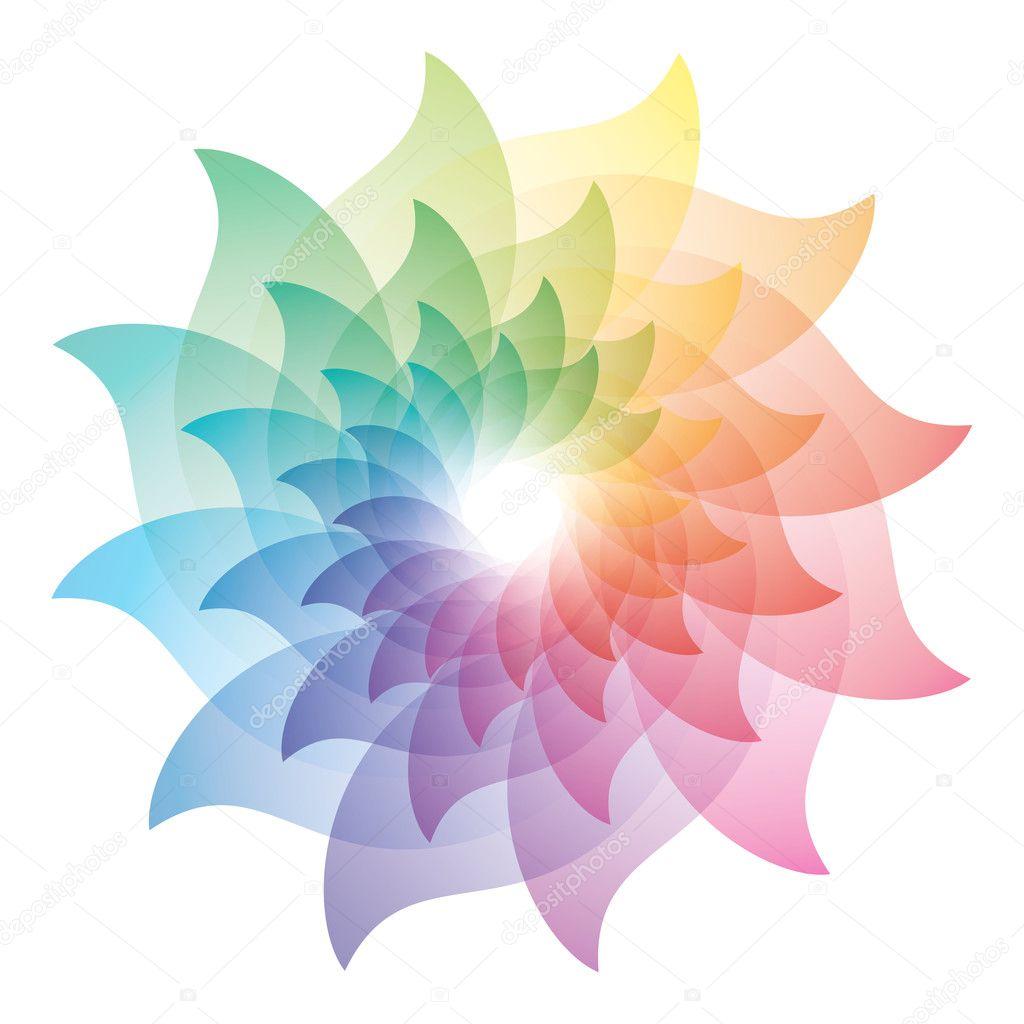 Beautiful Lotus Flower Color Wheel Icon Stock Vector C Almagami