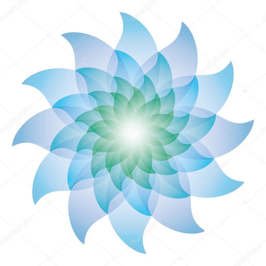 Icone De Fleur De Lotus Bleu Magnifique Image Vectorielle Almagami