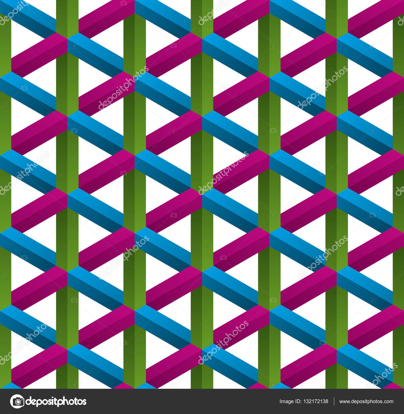Fotos Ilusiones Opticas 3d Isometrico De Patrones Sin