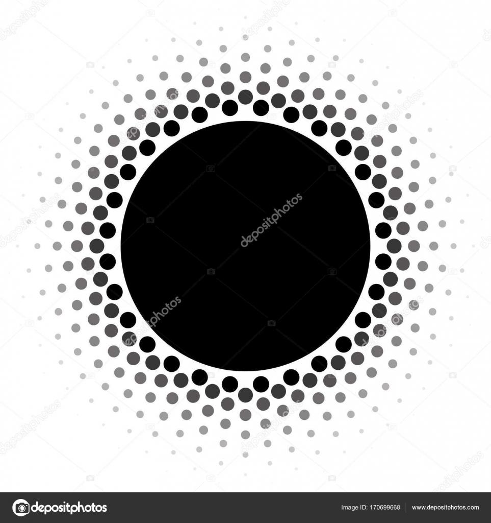 Halftone circle frame vector design element. — Stock Vector ...