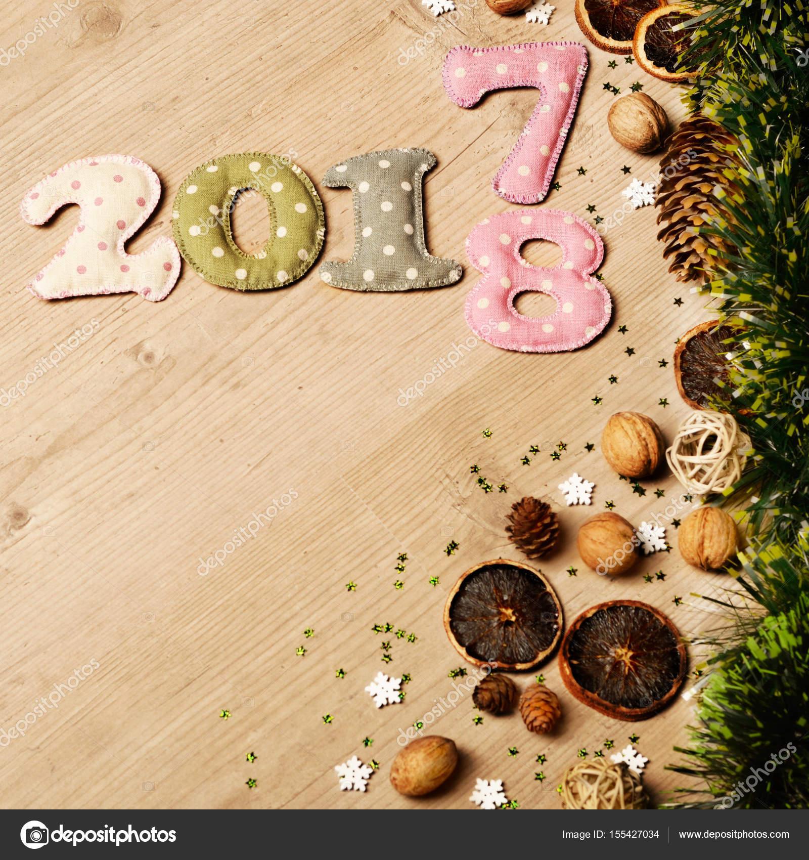 new year theme decorations stock photo