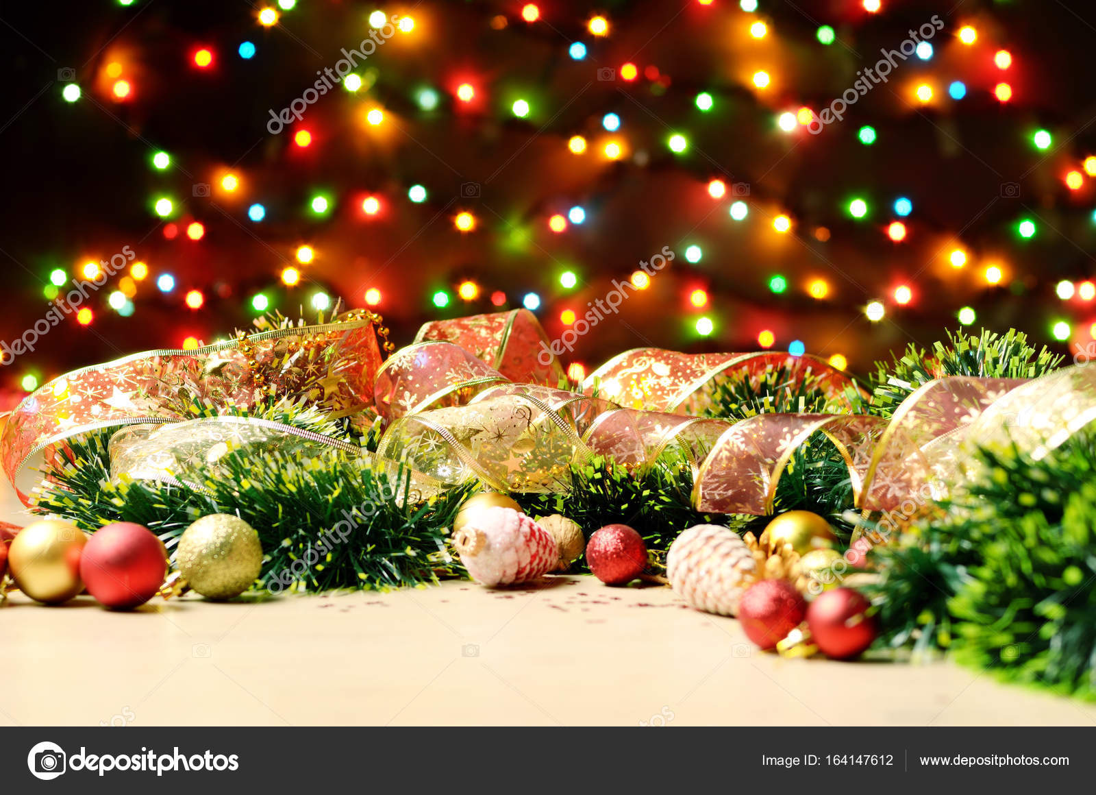 new year theme decorations stock photo