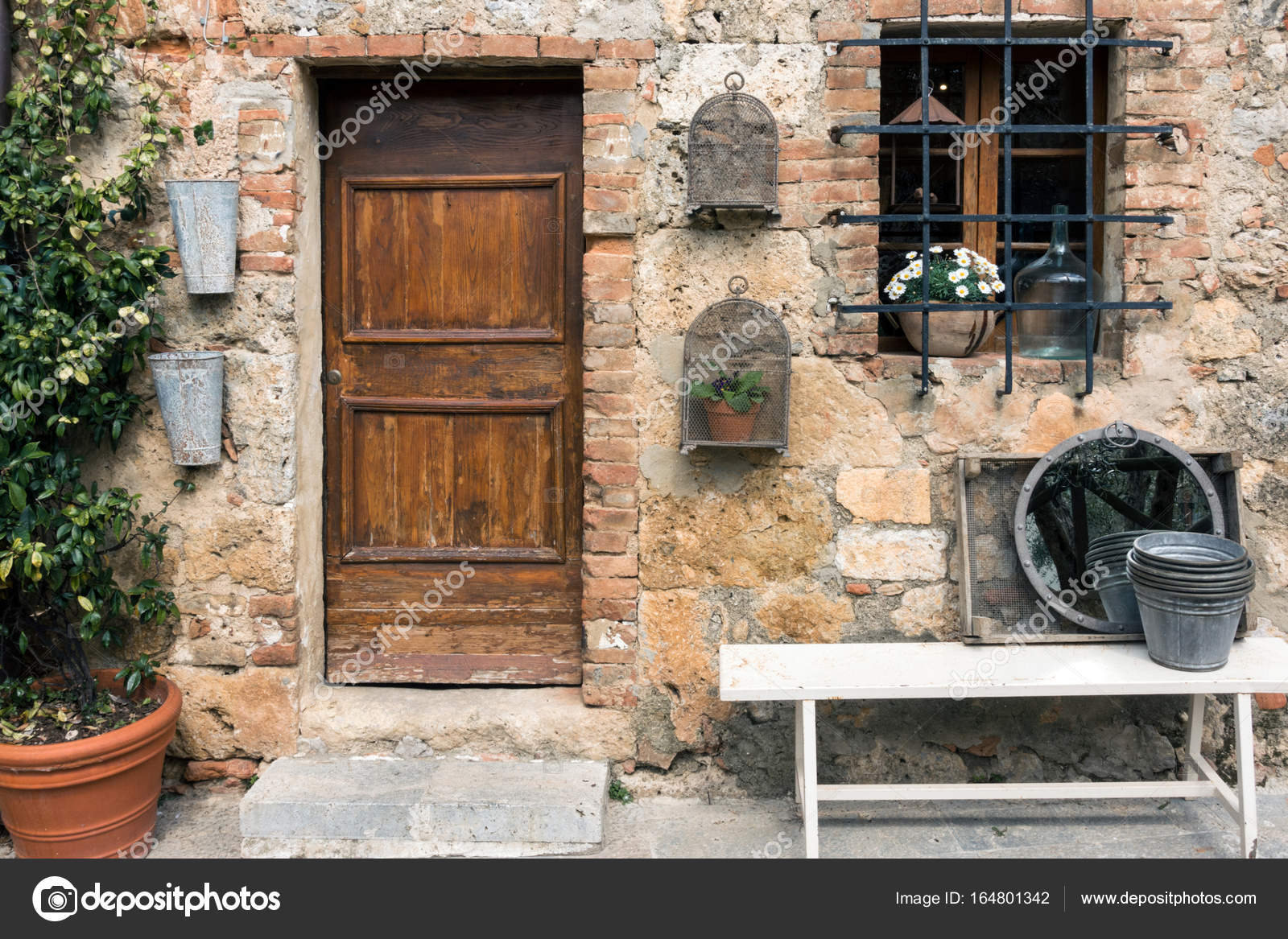 Old door ar the streets of ancient small italian town. Tuscany Ital u2014 Photo by azgek1978 : ital door - pezcame.com