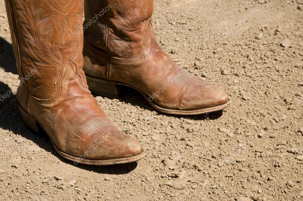 Plekke Permanent Twee Cowboy Western Ter Laarzen Vies Vuil b67yYgIfv