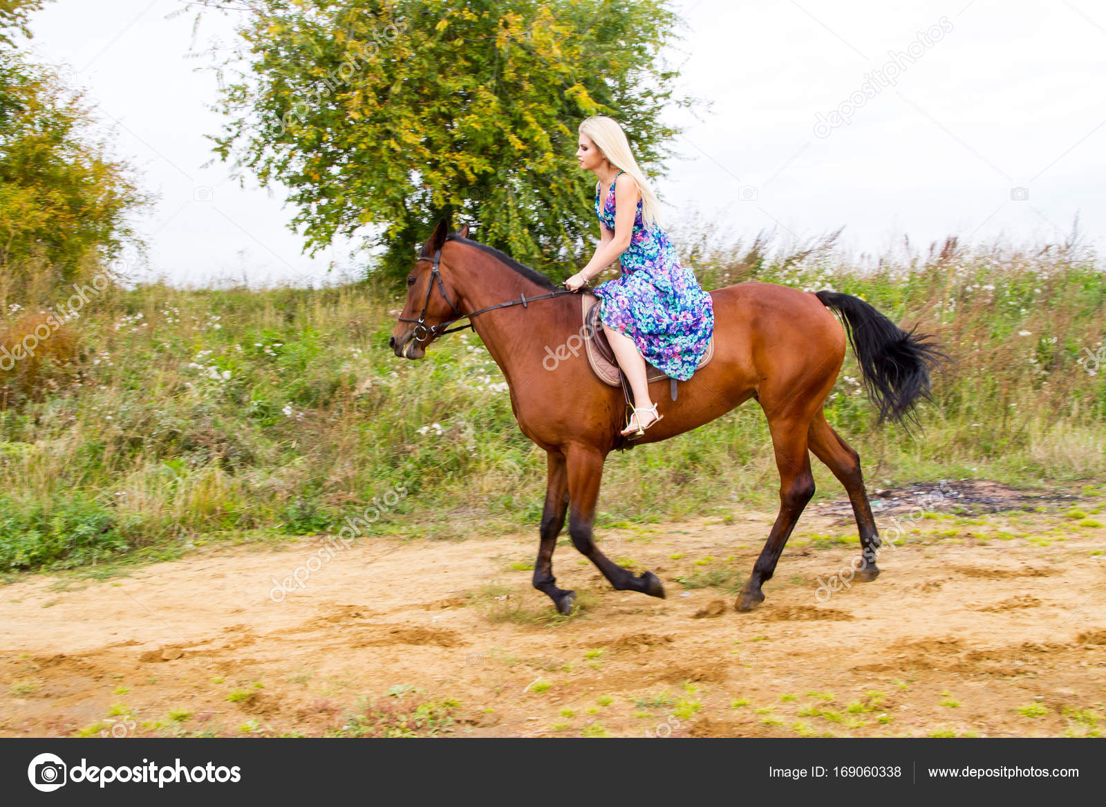 young blonde riding