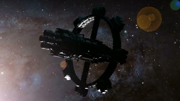 vesmírná loď a hvězdy Mléčné dráhy. Prvky tohoto obrázku jsou podle Nasa