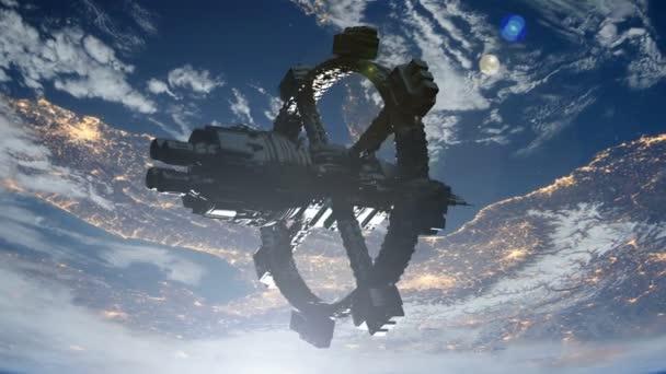Raumstation im Erdorbit. Elemente dieses Bildes von der nasa.