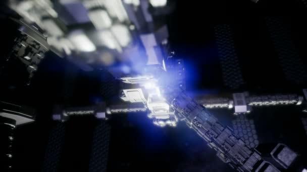 Kosmická loď cestování vesmírem