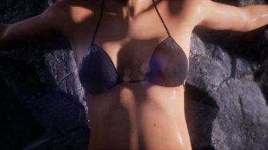 Young sexy bikiny woman