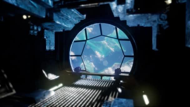 Megfigyeljük a földet az űrállomás Windows kék föld és a felhők