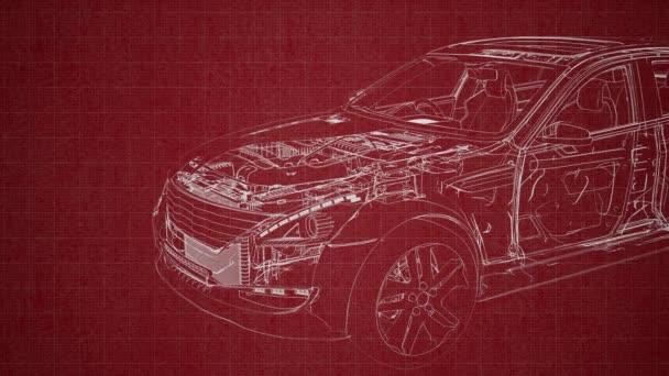 motor a další díly, které jsou viditelné v autě