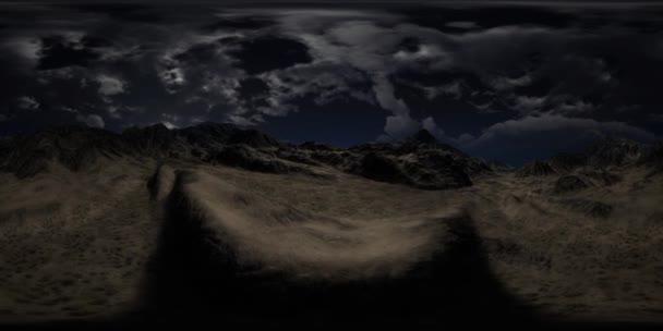VR-360 hatalmas sötét felhők felett a Skót Felföld