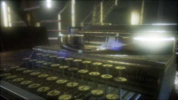 retro typewriter in the dark