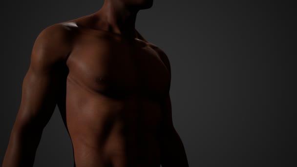 Afrikanisch-amerikanischer Rüde mit nackter Brust