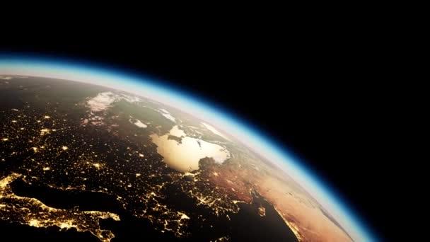 Vesmír, Slunce a planeta Země v noci