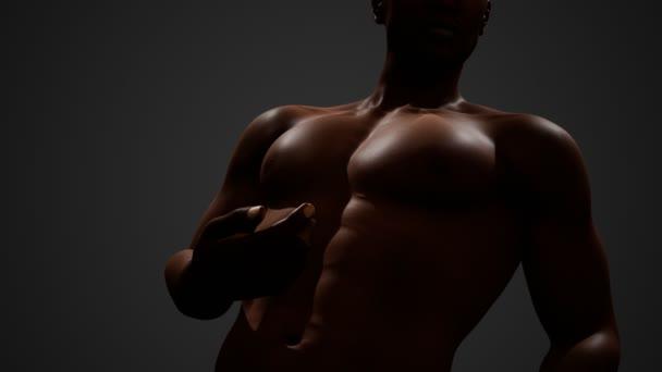 Afrikai amerikai férfi csupasz mellkassal