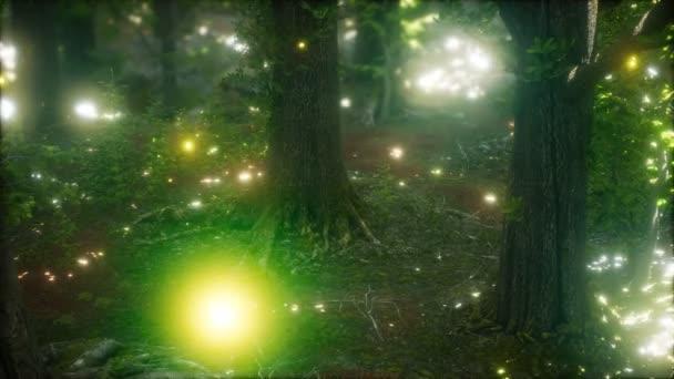 Světlmoucha létající v lese