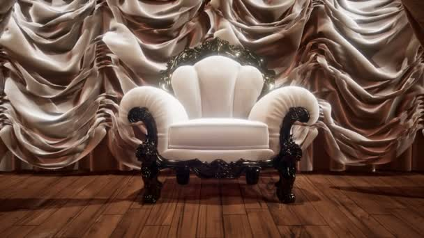 luxurious theater curtain stage with chair