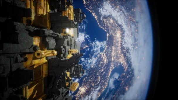 Kosmické lodě v prostoru 3d vykreslování