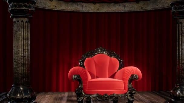 luxus színházi függöny színpad székkel