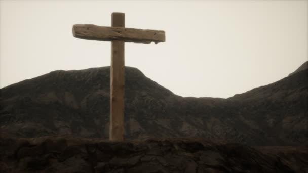 dřevěný kříž kříže na hoře