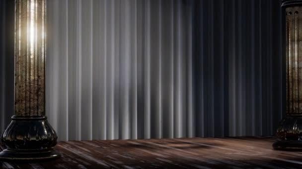 opona jeviště s světla a stínu