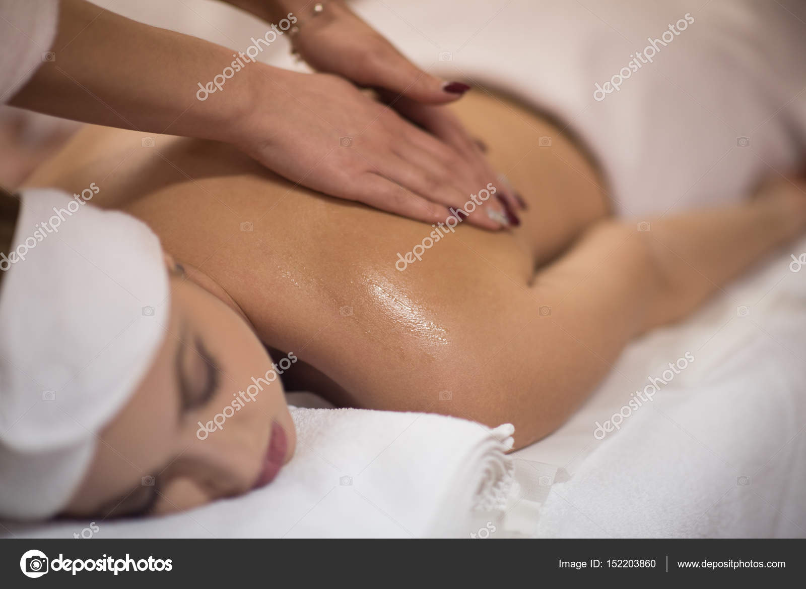 Remarkable, girl laying on stomach getting a massage