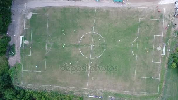 Letecká fotbalový stadion herní zápas