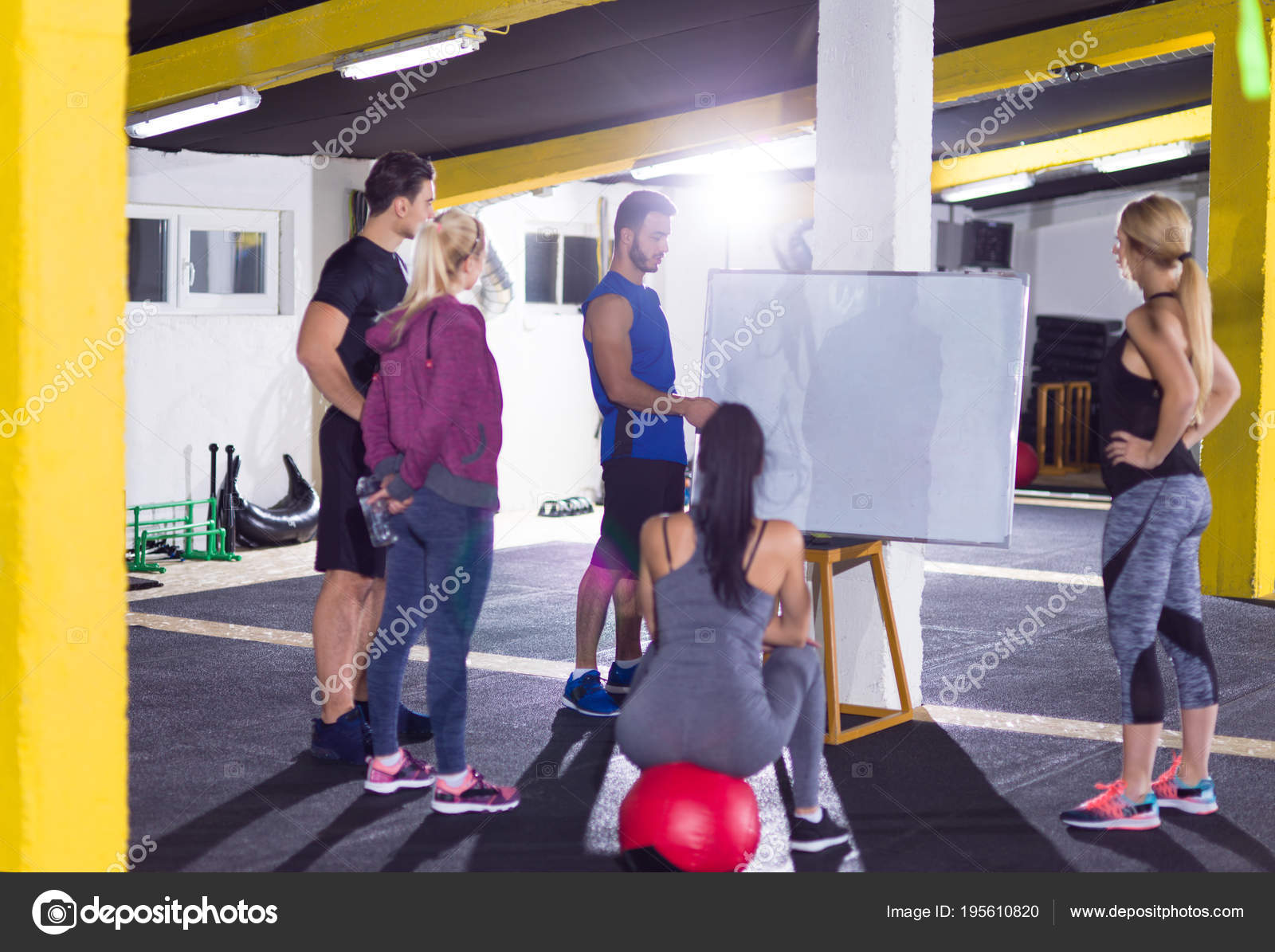 Athletes getting instructions from trainer u stock photo shock