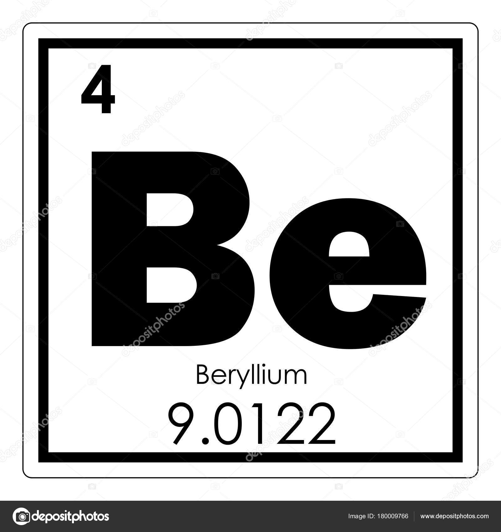 Beryllium chemical element stock photo tony4urban 180009766 beryllium chemical element periodic table science symbol photo by tony4urban urtaz Image collections