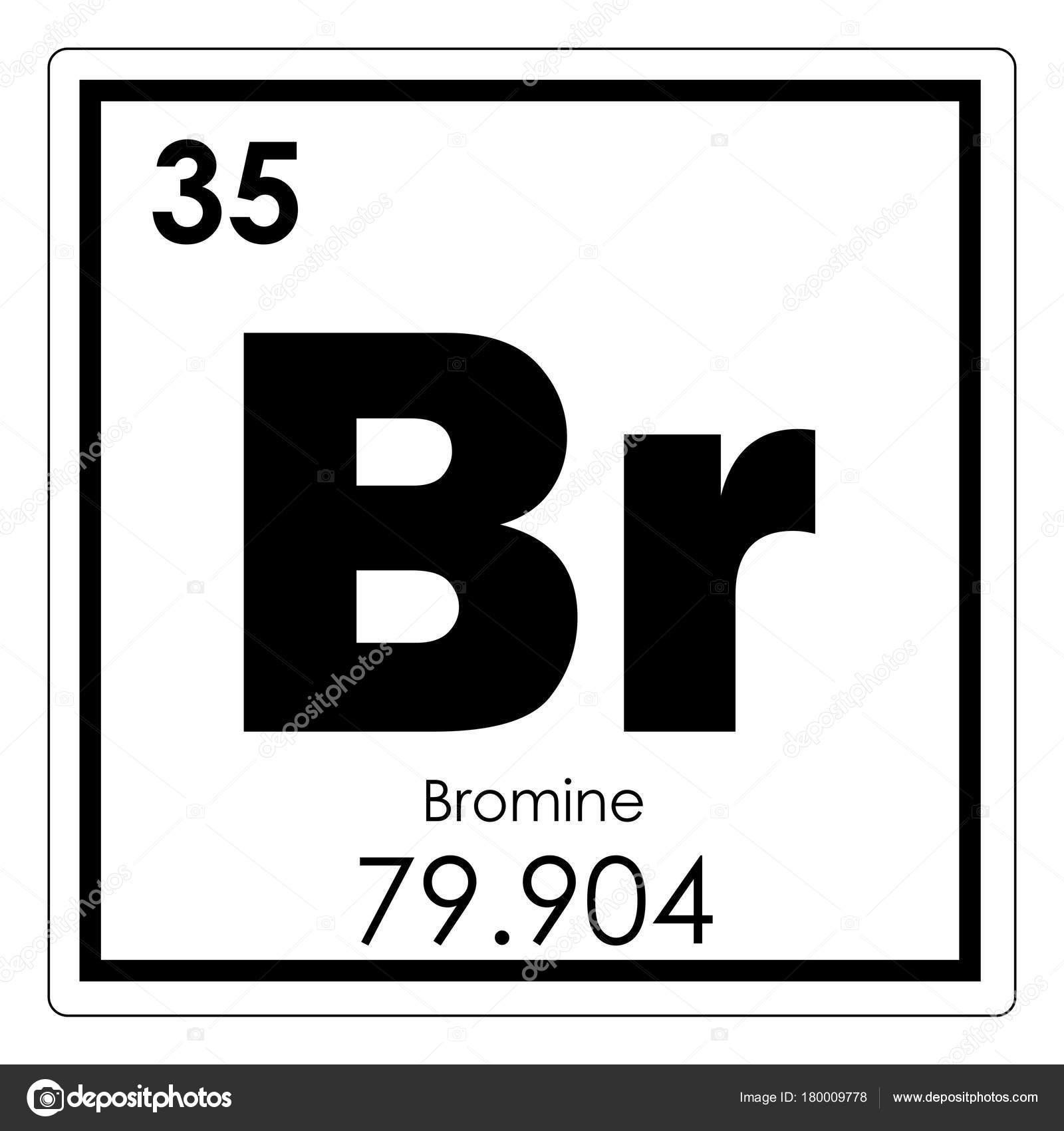 Elemento qumico bromo foto de stock tony4urban 180009778 smbolo de la ciencia de bromo elemento qumico tabla peridica foto de tony4urban urtaz Images