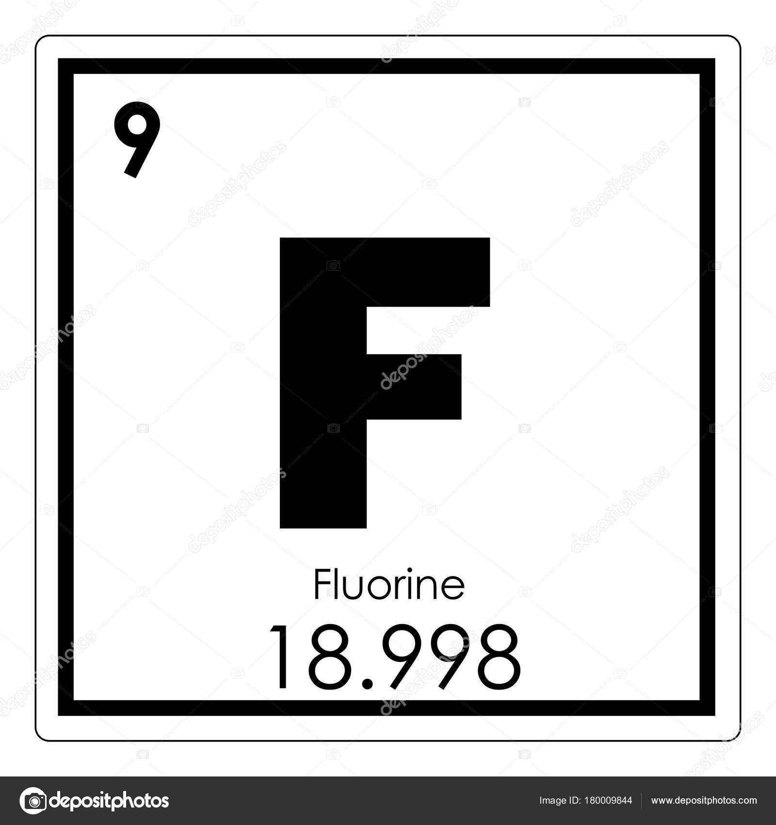 Fluorine Chemical Element Stock Photo Tony4urban 180009844